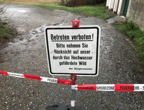 05. Januar 2018, Einsatz Hochwasser