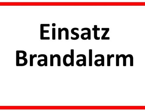 15. September 2021, Einsatz Brandalarm