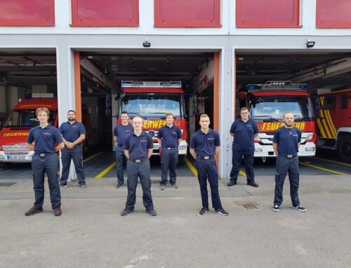 24. Juli 2021, Acht neue Einsatzkräfte für Brühler Feuerwehr
